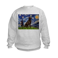 Starry Chocolate Lab Sweatshirt