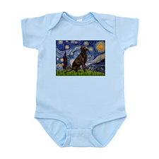 Starry Chocolate Lab Infant Bodysuit