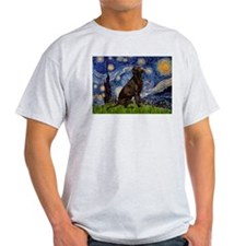 Starry Chocolate Lab T-Shirt