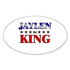 JAYLEN for king Oval Decal