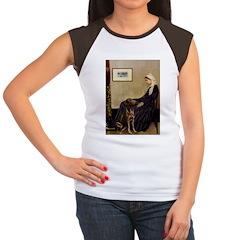Mom's Chocolate Lab Women's Cap Sleeve T-Shirt