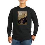 Mom's Chocolate Lab Long Sleeve Dark T-Shirt