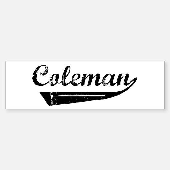 Coleman (vintage) Bumper Bumper Bumper Sticker