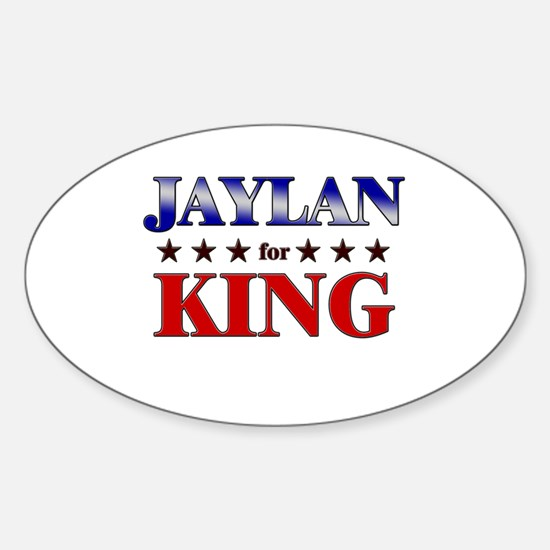 JAYLAN for king Oval Decal