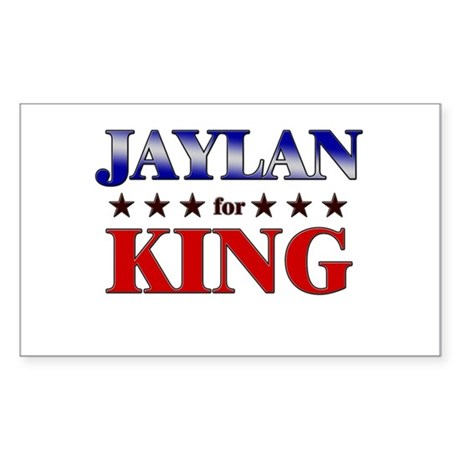 JAYLAN for king Rectangle Sticker