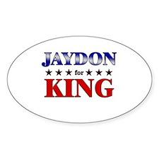 JAYDON for king Oval Decal