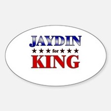 JAYDIN for king Oval Decal