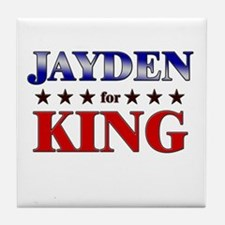 JAYDEN for king Tile Coaster