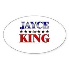 JAYCE for king Oval Decal