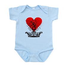 Medieval Crown & Heart Infant Bodysuit
