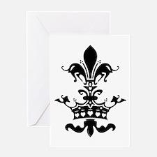 Fleur Crown hearts Greeting Card