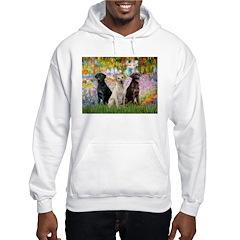 Monet's Garden & Lab Trio Hoodie