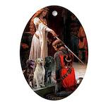 The Accolade & Lab Trio Ornament (Oval)