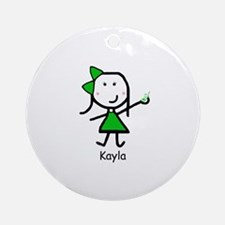 Cell Phone - Kayla Ornament (Round)