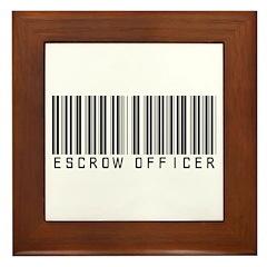 Escrow Officer Bar Code Framed Tile