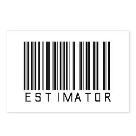 Estimator Bar Code Postcards (Package of 8)