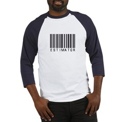 Estimator Bar Code Baseball Jersey