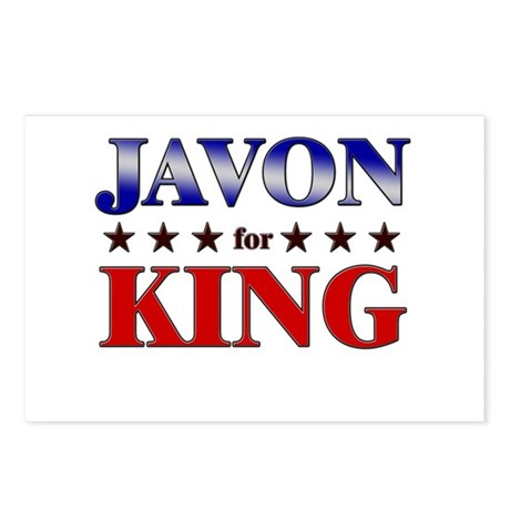JAVON for king Postcards (Package of 8)