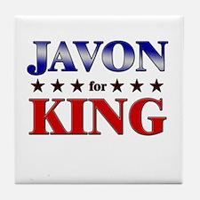 JAVON for king Tile Coaster