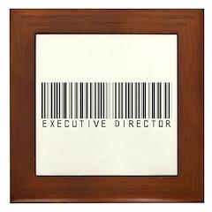 Executive Director Bar Code Framed Tile