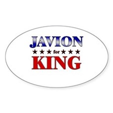 JAVION for king Oval Decal