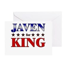 JAVEN for king Greeting Card
