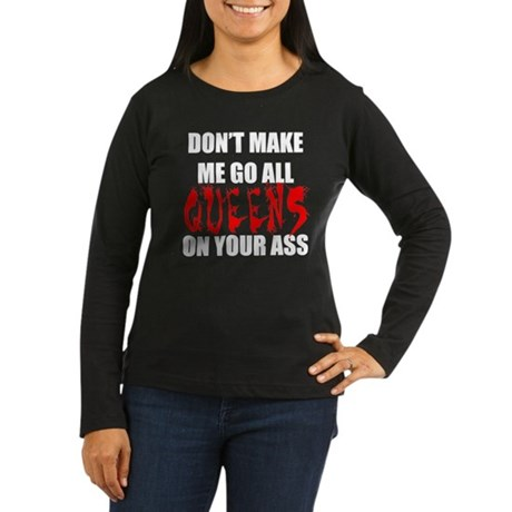 All Queens Women's Long Sleeve Dark T-Shirt