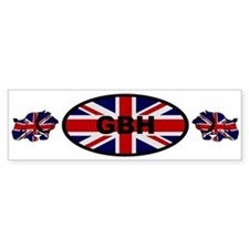 Union Jack Bulldog GB Parody Bumper Bumper Sticker