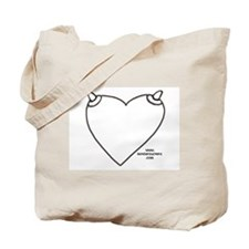 NippleHeart (blank) Tote Bag