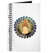 Psychedelic morel mushroom art Journal