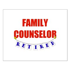 Retired Family Counselor Posters