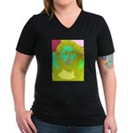 Pastel Jesus Women's V-Neck Dark T-Shirt