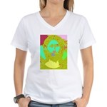 Pastel Jesus Women's V-Neck T-Shirt