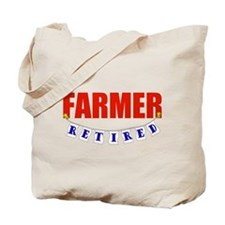 Retired Farmer Tote Bag