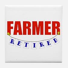 Retired Farmer Tile Coaster