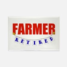 Retired Farmer Rectangle Magnet (100 pack)