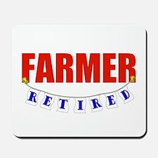 Retired Farmer Mousepad