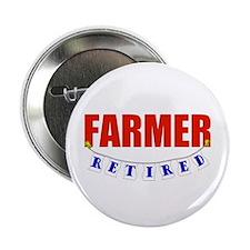 "Retired Farmer 2.25"" Button"