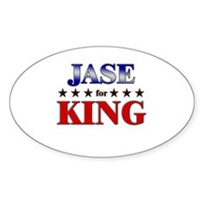 JASE for king Oval Decal