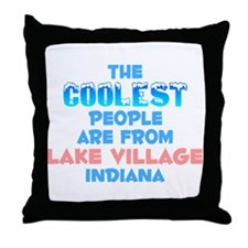 Coolest: Lake Village, IN Throw Pillow