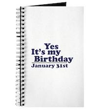 January 31st Birthday Journal
