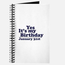 January 31st Birthday Journal