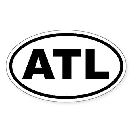 ATL Atlanta, Ga Euro Oval Sticker