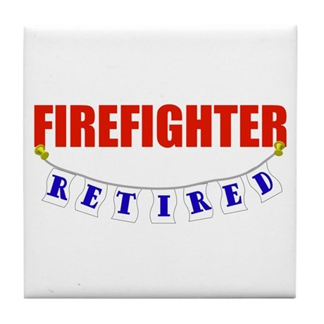 Retired Firefighter Tile Coaster
