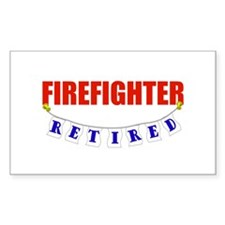 Retired Firefighter Rectangle Decal