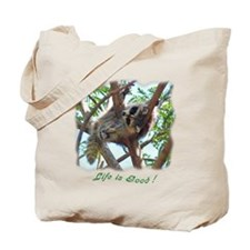 Sleepy Raccoon Tote Bag