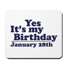 January 28th Birthday Mousepad