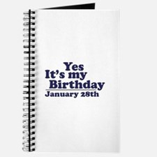 January 28th Birthday Journal