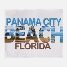 Summer panama city- florida Throw Blanket