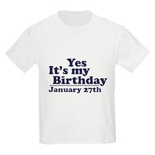 January 27th Birthday T-Shirt